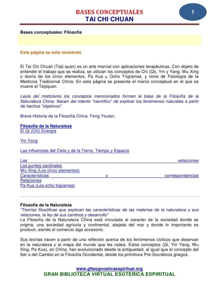 BASES CONCEPTUALES                                           1                               TAI CHI CHUANBases conceptual...