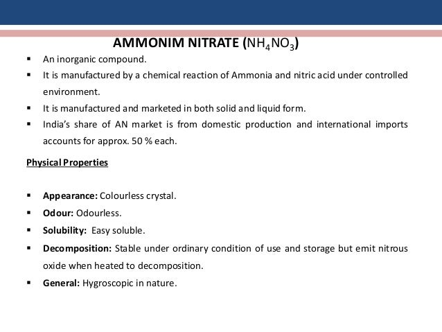 anti hygroscopicity of ammonium nitrate an Progress in research of inorganic compounds' caking and anti  anti-caking agent for ammonium nitrate  hygroscopicity of the coated ammonium nitrate.
