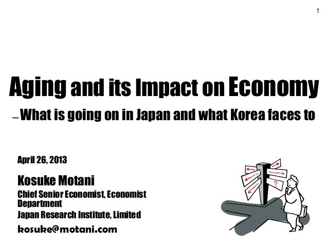 1Aging and its Impact on Economy--- What is going on in Japan and what Korea faces toApril 26, 2013Kosuke MotaniChief Seni...