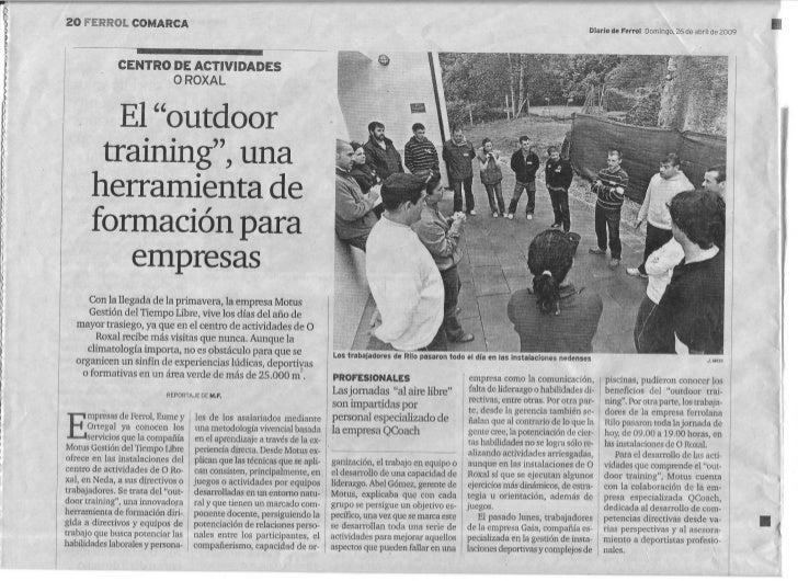 Outdoor training, Centro de Actividades O Roxal