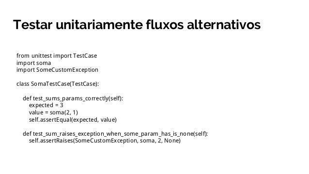 Testes unitários como ferramentas de design de código