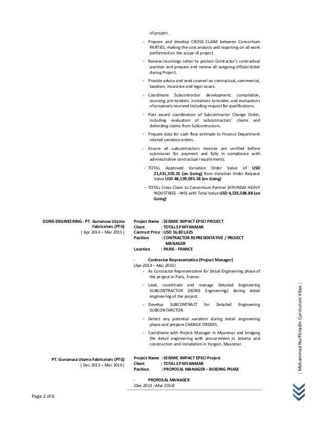 CV Mohammad Nurfitriadin Jan 2017