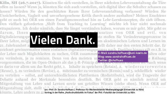 Köln, SH (26.7.2017). Könnten Sie sich vorstellen, in Ihrer nächsten Lehrveranstaltung die Türe offen zu lassen? Wenn ja, ...