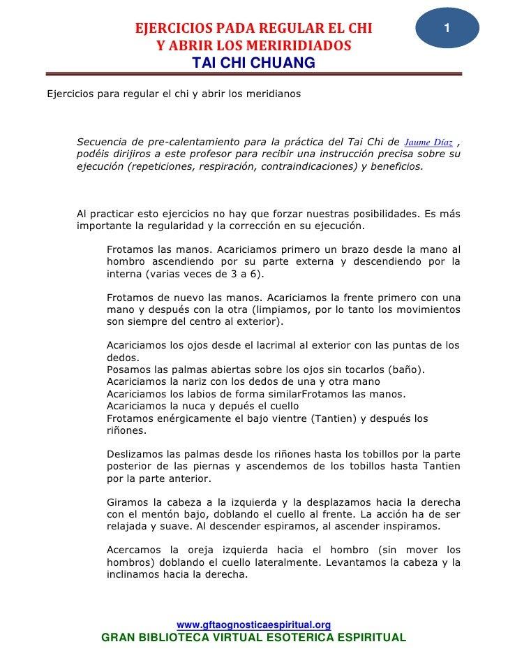 EJERCICIOS PADA REGULAR EL CHI                                1                     Y ABRIR LOS MERIRIDIADOS              ...