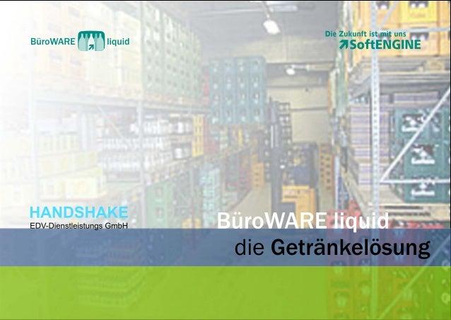 BüroWARE liquid - die ERP-Getränkelösung