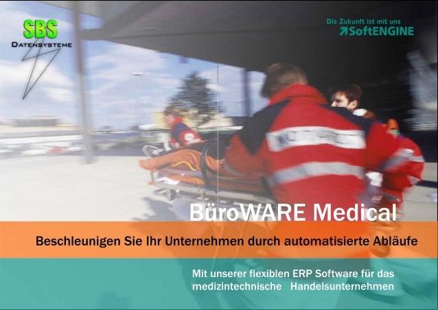 BüroWARE Medical - ERP-Software für den medizintechischen Handel
