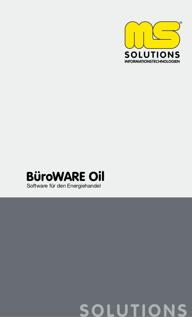 BüroWARE Oil Software für den Energiehandel