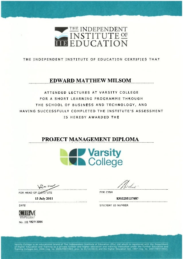 2011-07-13 Project Management Diploma