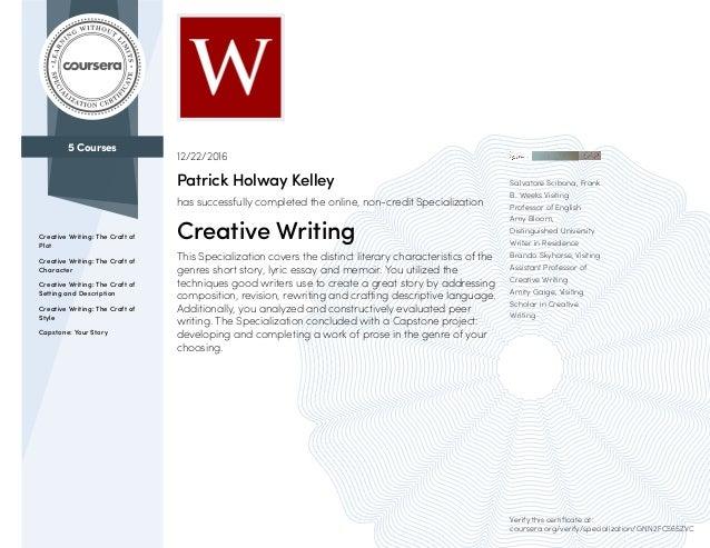 coursera creative writing wesleyan