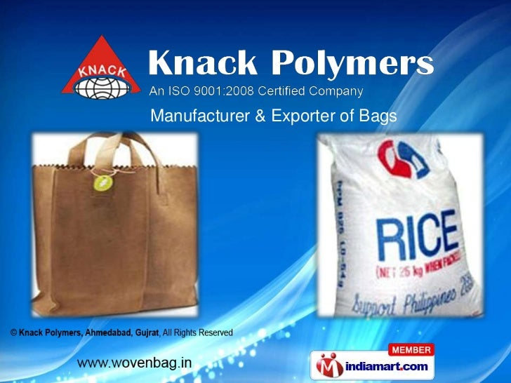 Manufacturer & Exporter of Bags