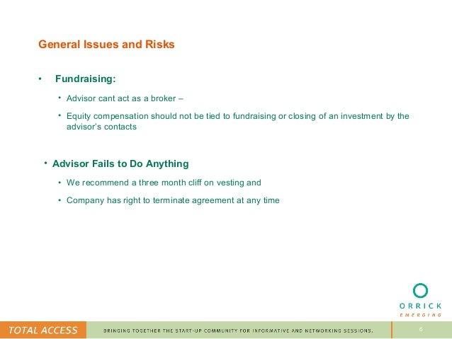Engaging Advisors For Startups Presentation From Orrick