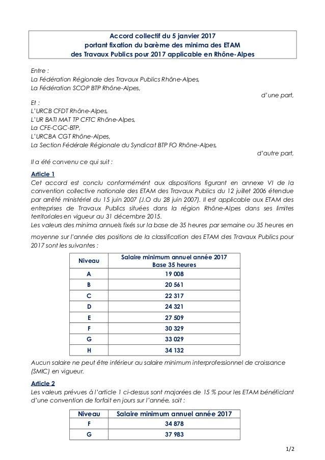 Idcc 2614 Accord Sur Les Salaires Minima Des Etam Des Travaux Publics