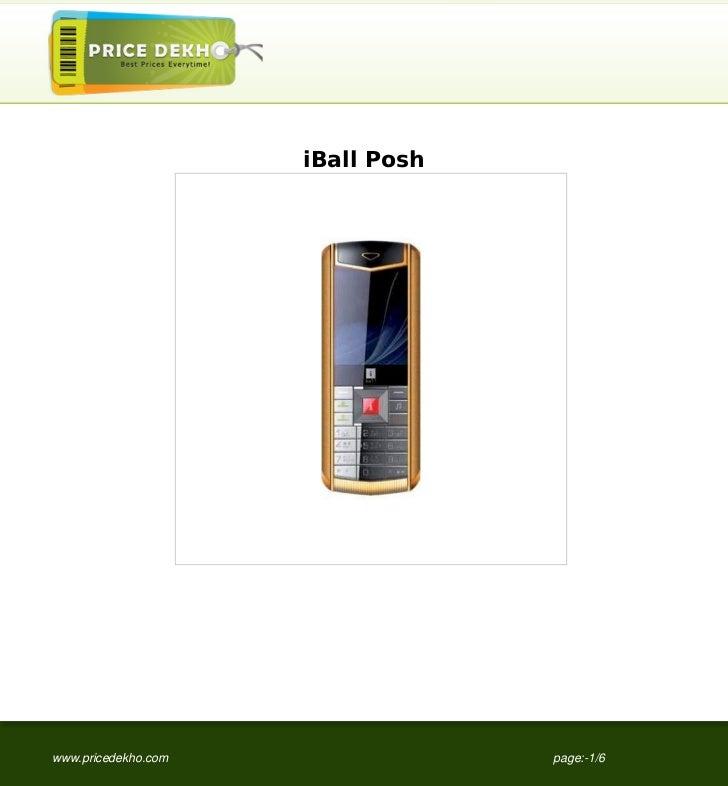 iBall Poshwww.pricedekho.com                page:-1/6