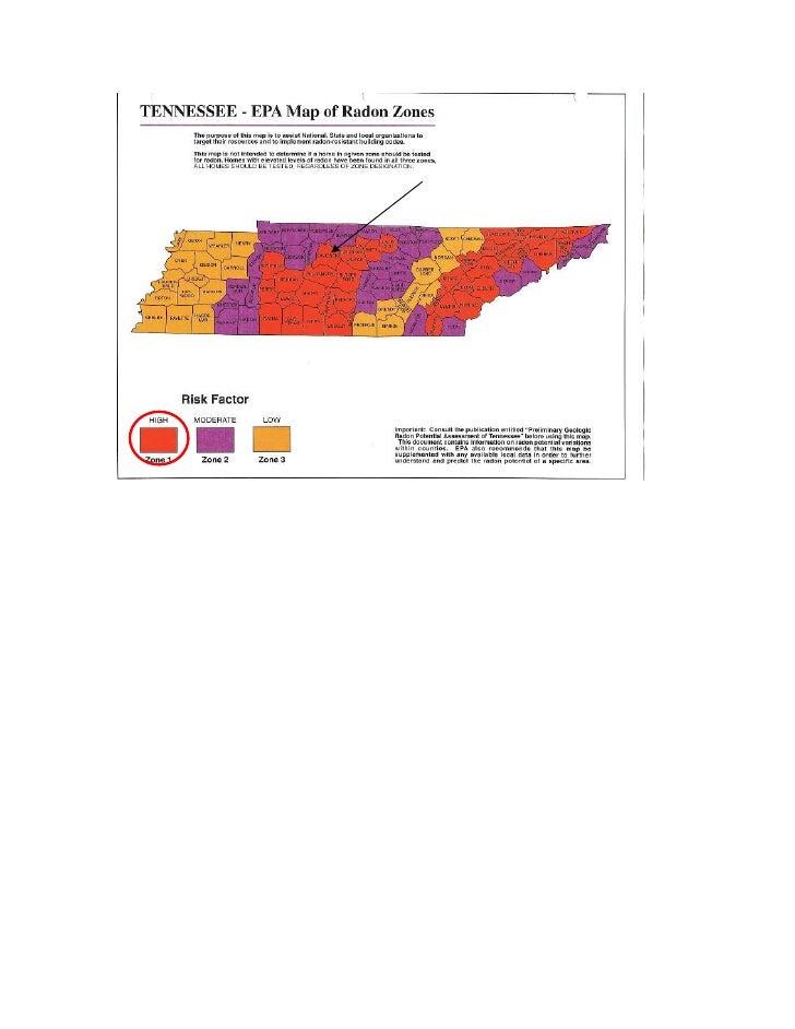 EPA Radon Zones in TN
