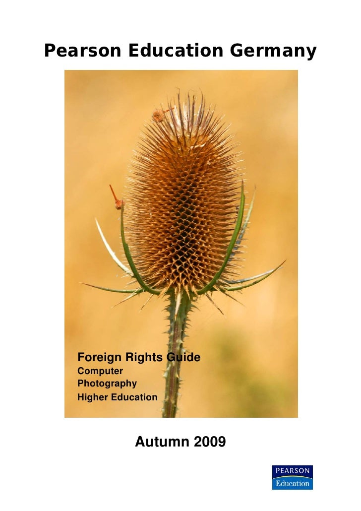 Pearson Education Germany        Foreign Rights Guide    Computer    Photography    Higher Education                  Autu...