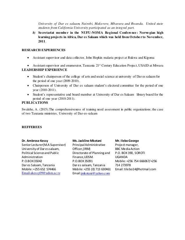 curriculum vitae of jakaya mrisho kikwete