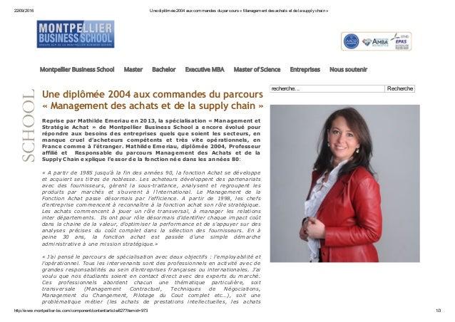 22/09/2016 Unediplômée2004auxcommandesduparcours«Managementdesachatsetdelasupplychain» http://www.montpell...