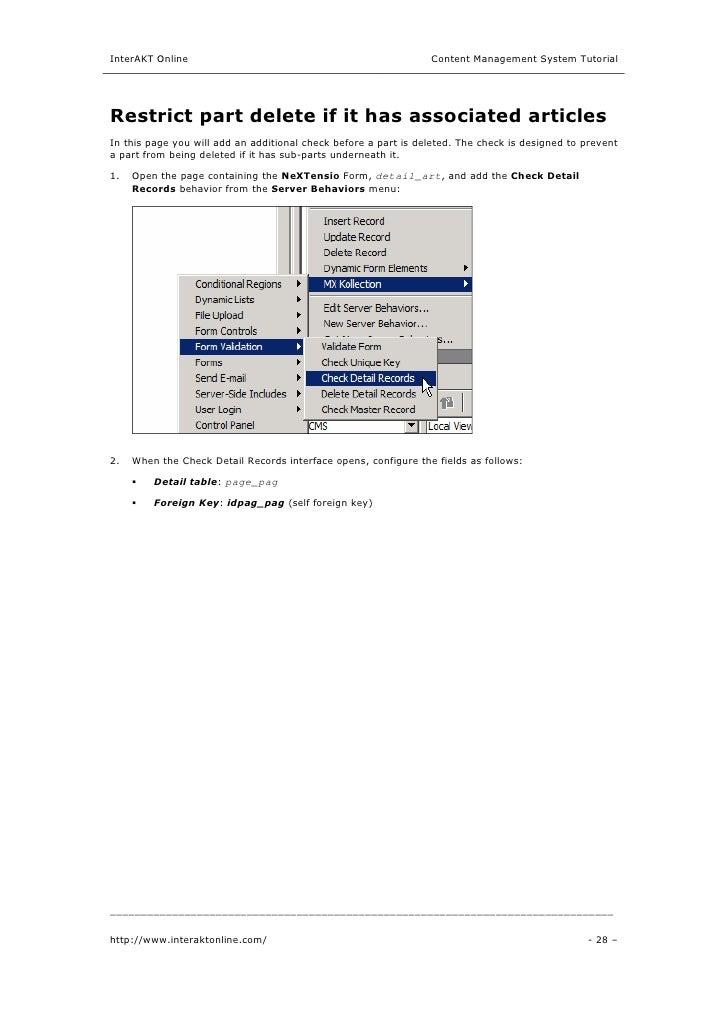 content management system tutorial pdf