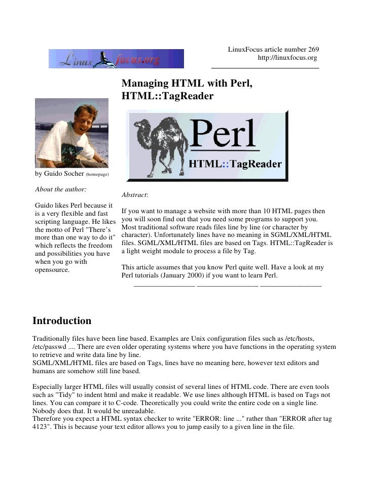 LinuxFocus article number 269                                                                            http://linuxfocus...