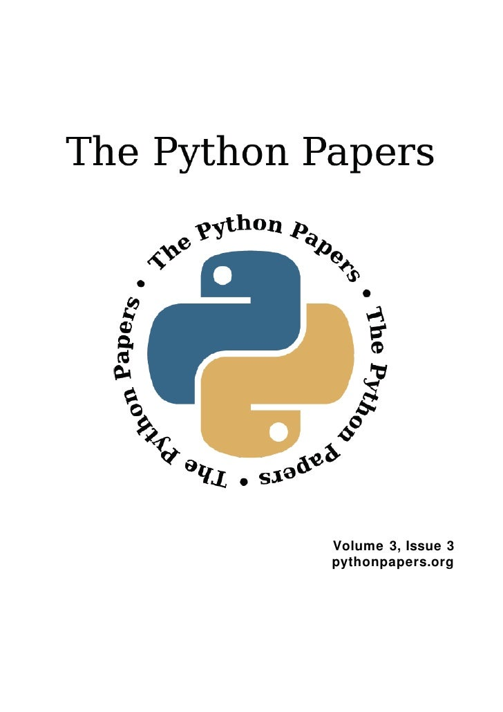 Volume 3, Issue 3 pythonpapers.org