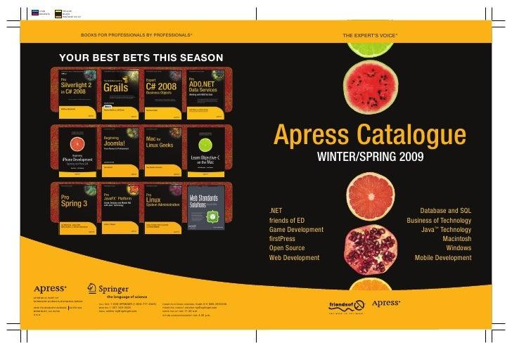 ThEEXPErT'sVOiCE ®      Apress Catalogue               winter/spring 2009    .NET                                       ...