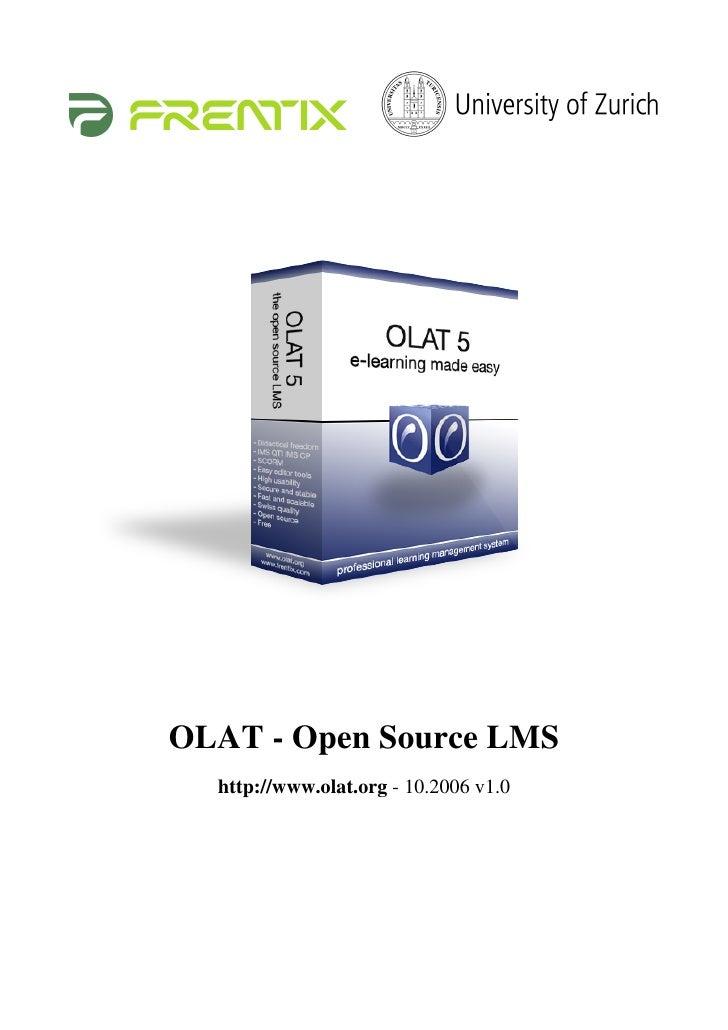 OLAT - Open Source LMS   http://www.olat.org - 10.2006 v1.0
