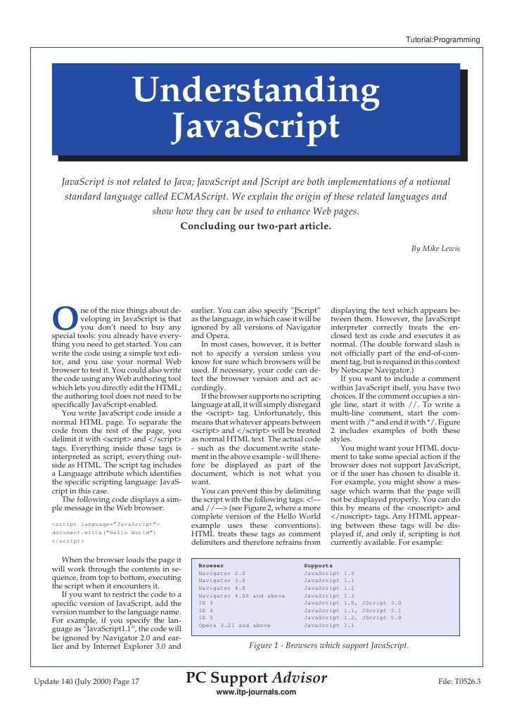 Tutorial:Programming                                   Understanding                                 JavaScript         Ja...