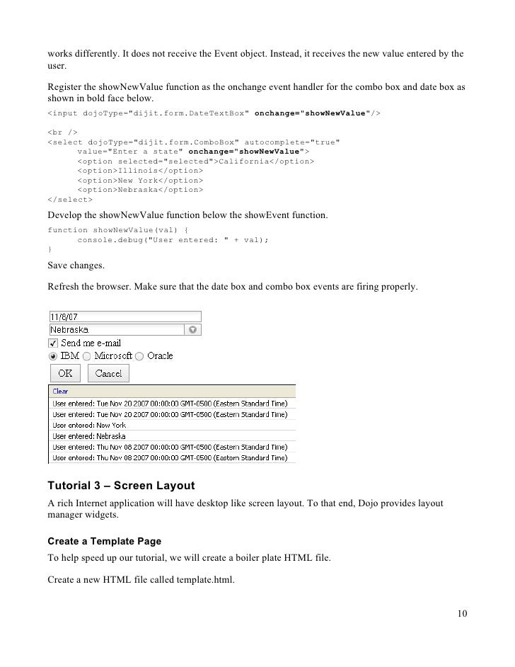 Dive into dijit forms blog | sitepen.