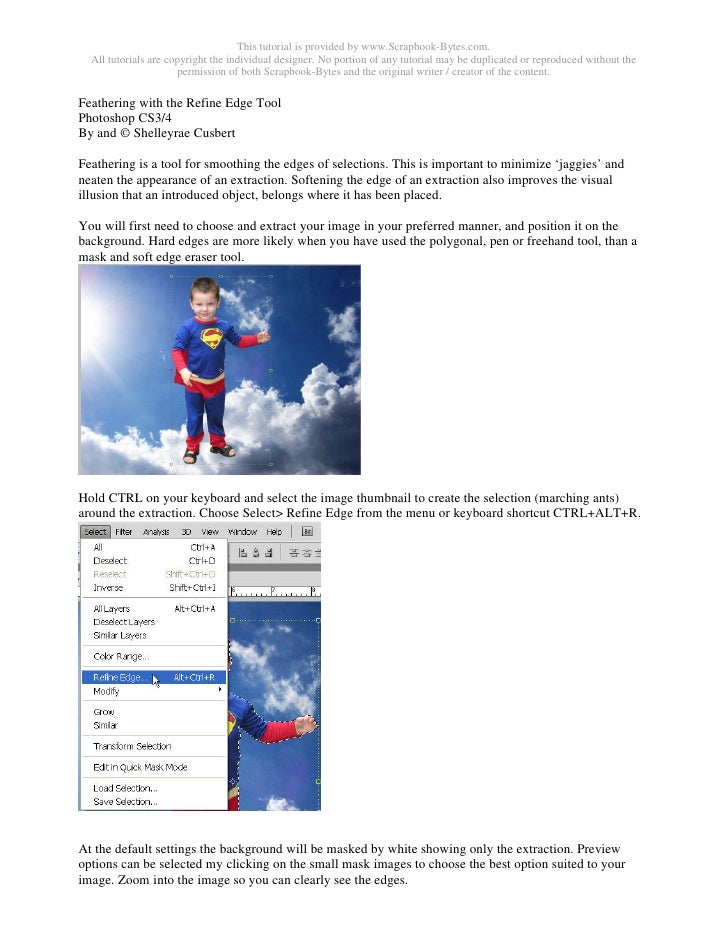 This tutorial is provided by www.Scrapbook-Bytes.com.   All tutorials are copyright the individual designer. No portion of...