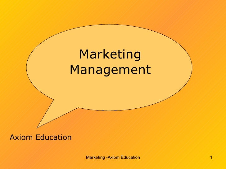 Marketing Management Axiom Education