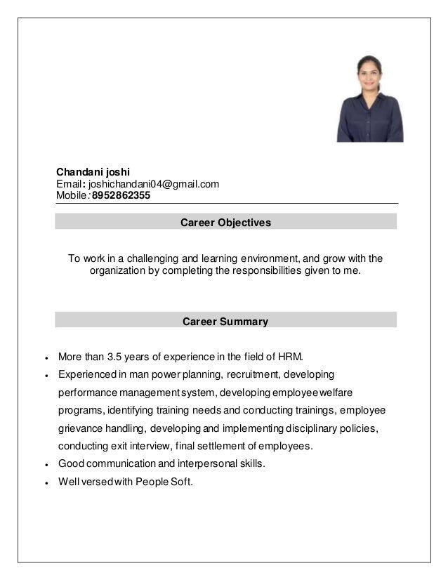 Chandani joshi Email: joshichandani04@gmail.com Mobile: 8952862355 Career Objectives To work in a challenging and learning...