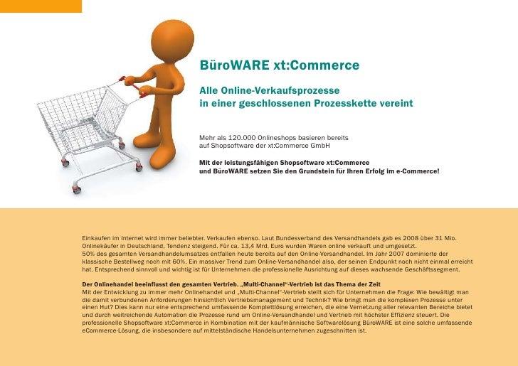 BüroWARE xt:Commerce                                        Alle Online-Verkaufsprozesse                                  ...