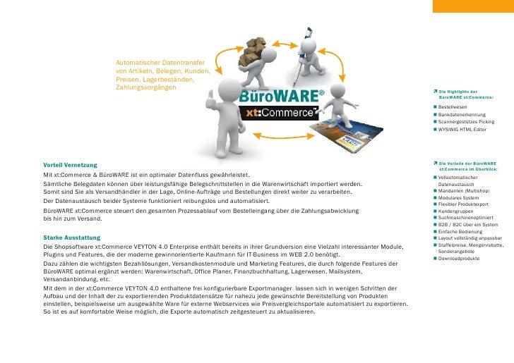 Automatischer Datentransfer                          von Artikeln, Belegen, Kunden,                          Preisen, Lage...