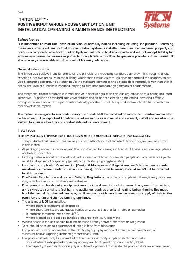 Tritonanti condensationdatapack operating and maintenance instructions 22 publicscrutiny Choice Image
