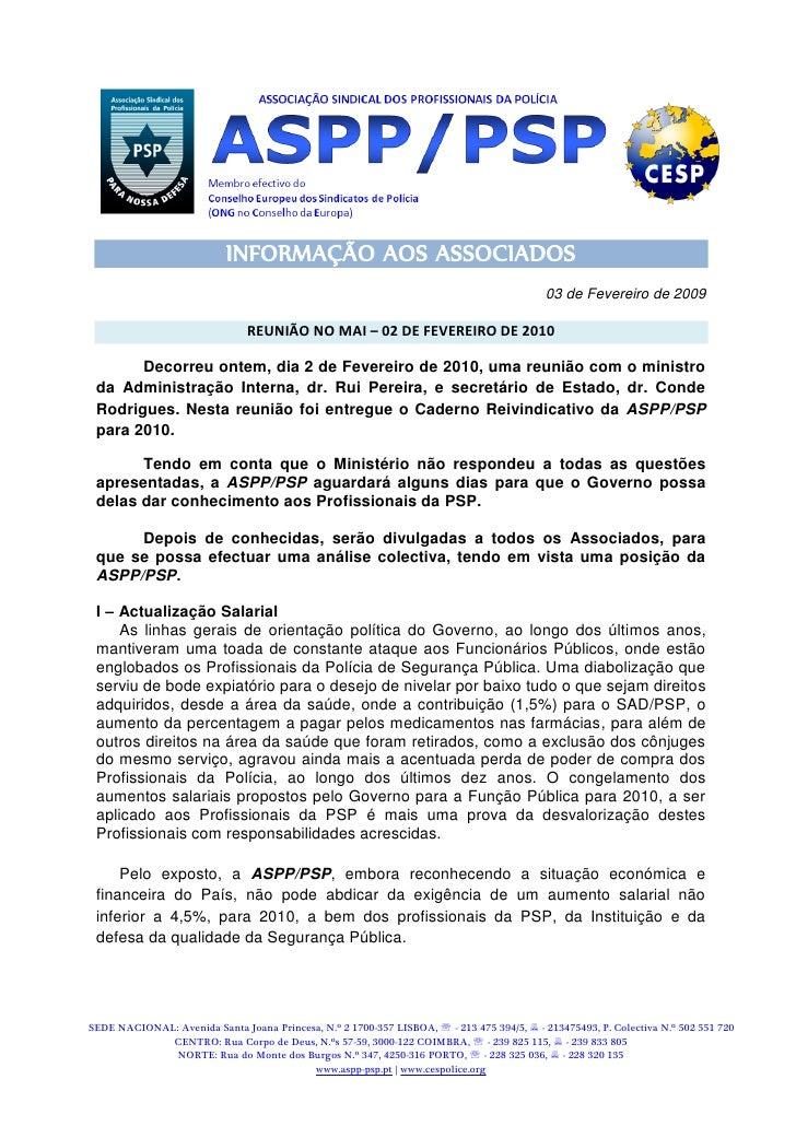 INFORMAÇÃO AOS ASSOCIADOS                                                                                            03 de...