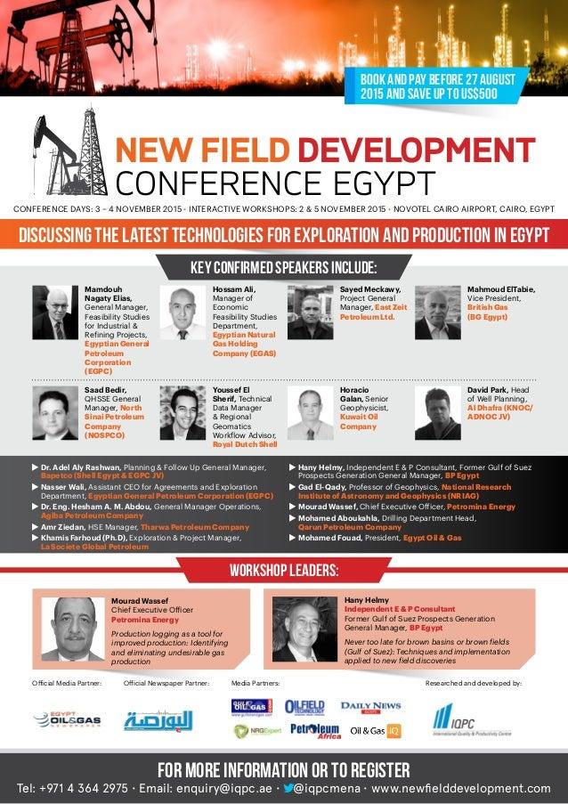 New Field Development Egypt Conference 2015
