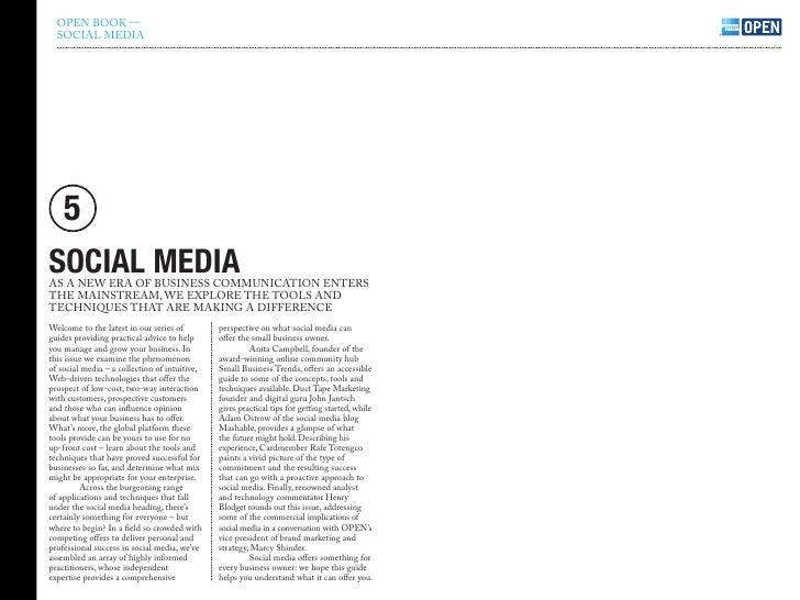 open book social media guide