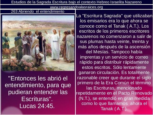 """Estudios de la Sagrada Escritura bajo el contexto Hebreo Israelita Nazareno La """"Escritura Sagrada"""" que utilizaban los emis..."""