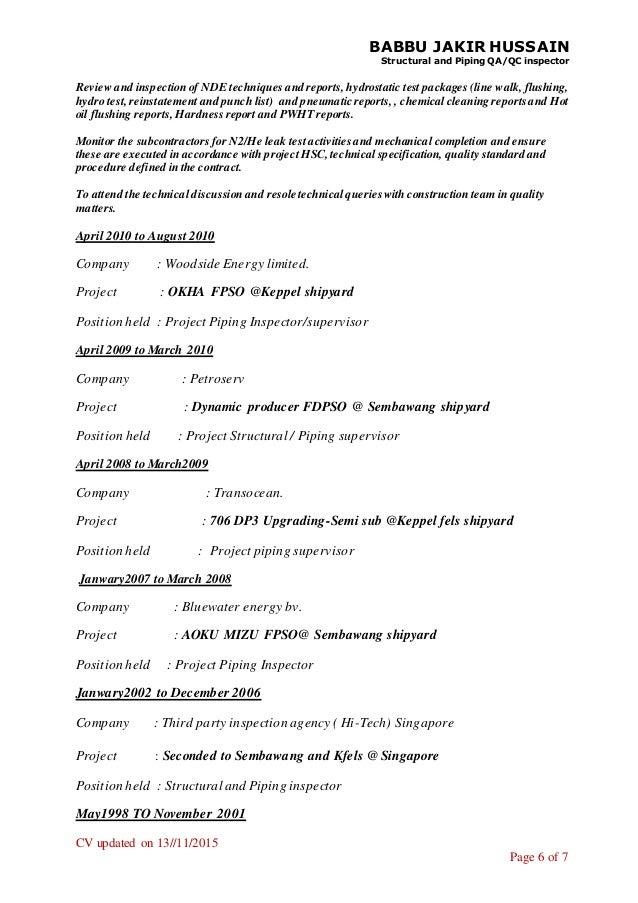 babbu jakir resume