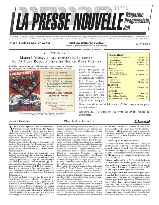 LA PRESSE NOUVELLE  Magazine Progressiste Juif  PNM aborde de manière critique les problèmes politiques et culturels, nati...