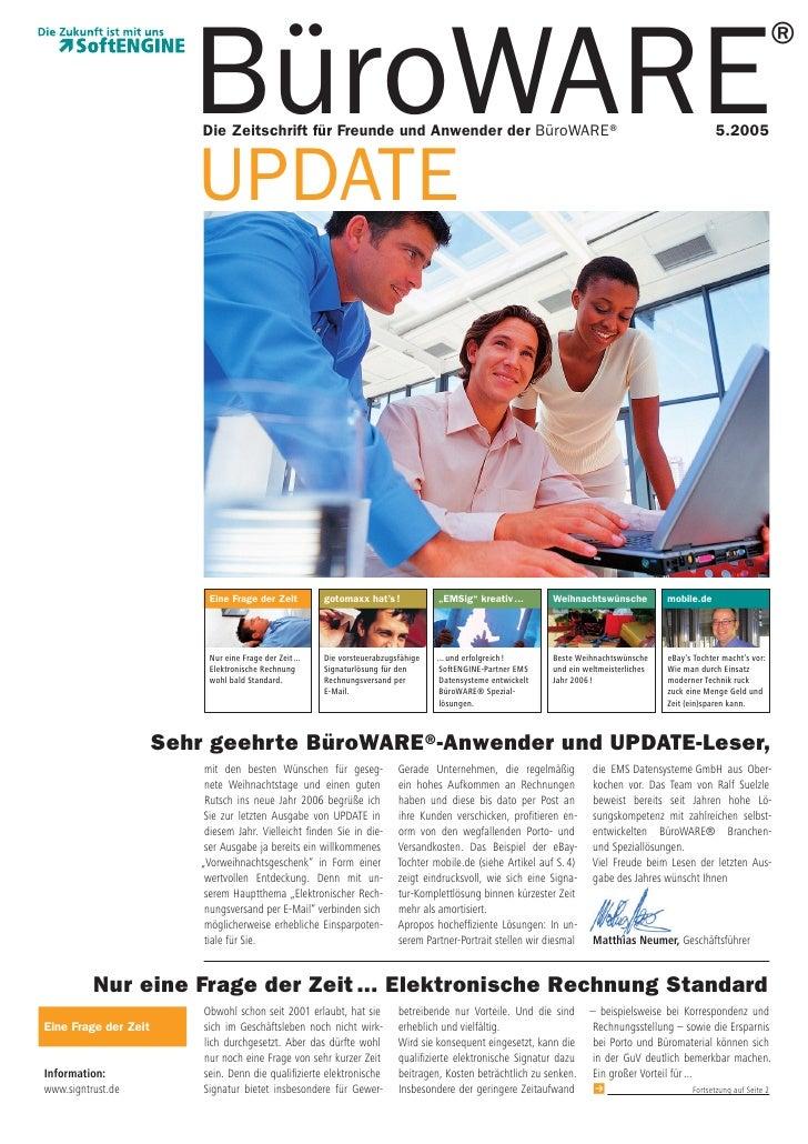 ®                          BüroWARE                           Die Zeitschrift für Freunde und Anwender der BüroWARE®      ...