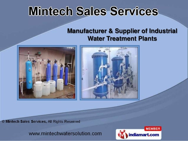 Manufacturer & Supplier of Industrial      Water Treatment Plants