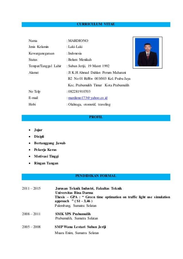 CV & Surat Lamaran Kerja
