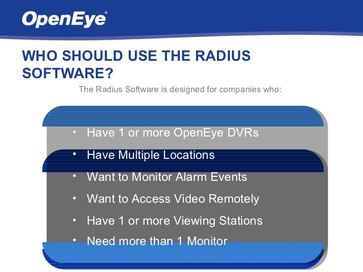Openeye Radius Overview Slide 3