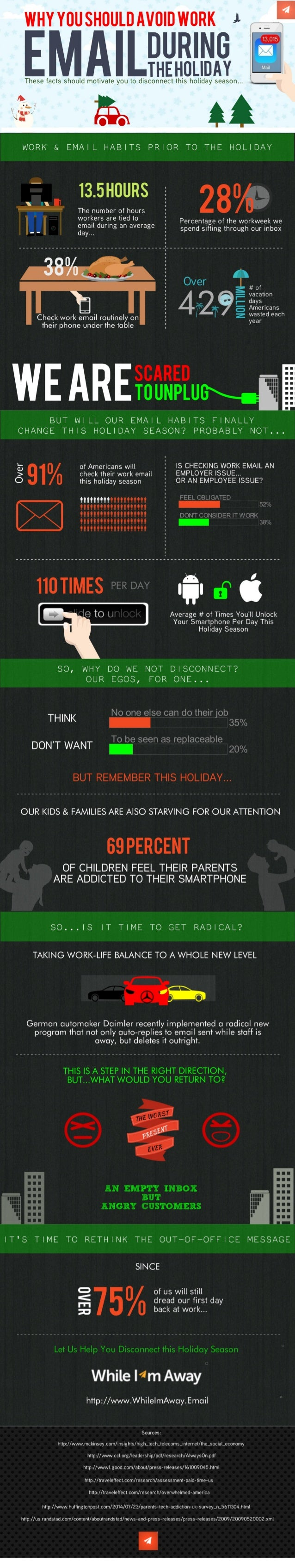 "EMAILIIIIIIIIIIT U  These facts should motivate you to disconnect this holiday season. ..  ""' :4  WORK & EMAIL HABITS PRIO..."