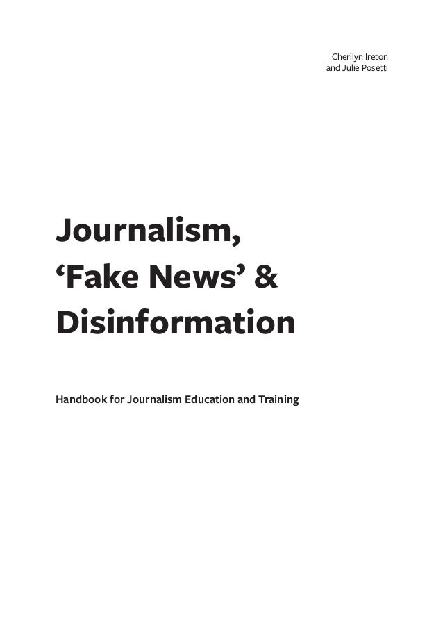 26 Ideas For The Delimitation: Journalism Fake News Disinformation