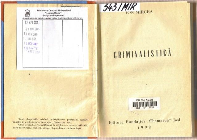 26596821 criminalistica-ion-mircea