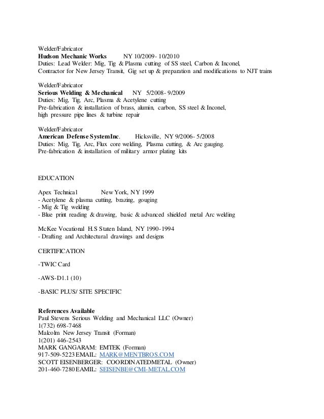 Basic Welder Fabricator Resume Page3