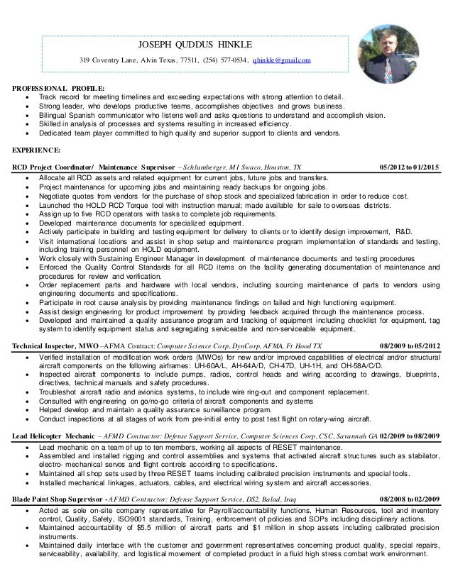 high attention to detail resume