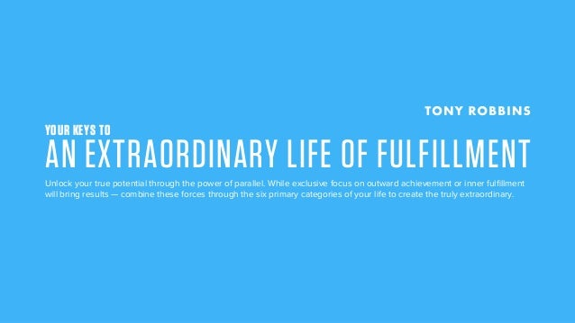 YOUR KEYS TO AN EXTRAORDINARY LIFE OF FULFILLMENTUnlock your true potential through the power of parallel. While exclusive...